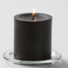 "Richland Pillar Candles 3""x3"" Black Set of 24"