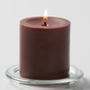 "Richland Pillar Candles 3""x3"" Brown Set of 24"