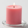 "Richland Pillar Candles 3""x3"" Pink Set of 24"