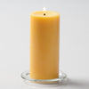 "Richland Pillar Candles 3""x6"" Yellow Set of 24"
