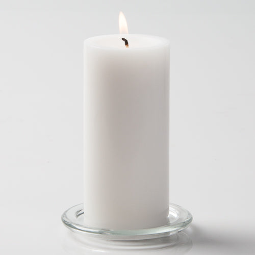 "Richland Pillar Candle 3""x6"" White"