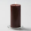 "Richland Pillar Candles 3""x6"" Brown Set of 6"
