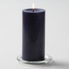 "Richland Pillar Candles 3""x6"" Navy Blue Set of 24"