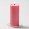 "Richland Pillar Candles 3""x6"" Pink Set of 6"