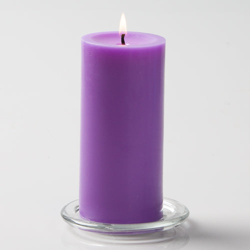 "Richland Pillar Candles 3""x6"" Lavender Set of 6"