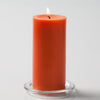 "Richland Pillar Candles 3""x6"" Orange Set of 6"