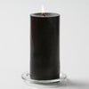 "Richland Pillar Candles 3""x6"" Black Set of 24"