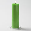 "Richland Pillar Candles 3""x9"" Green Set of 6"