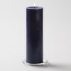 "Richland Pillar Candle 3""x9"" Navy Blue"