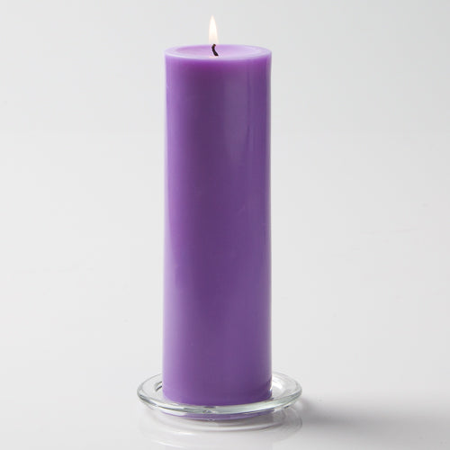 "Richland Pillar Candles 3""x9"" Lavender Set of 12"