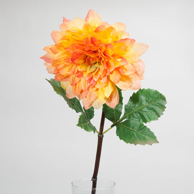 "Richland Orange Dahlia 34"" Set of 12"