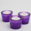 richland multi use tealight and taper holder purple set of 72