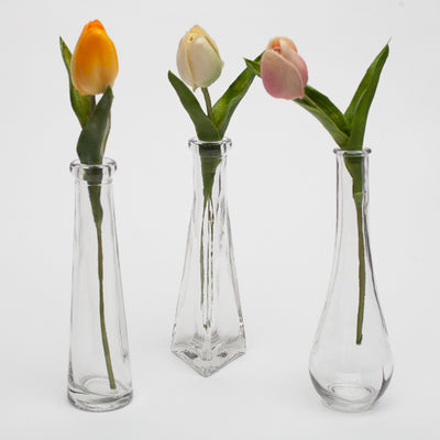 Richland Tapered Triangle Bud Vase 6.5""