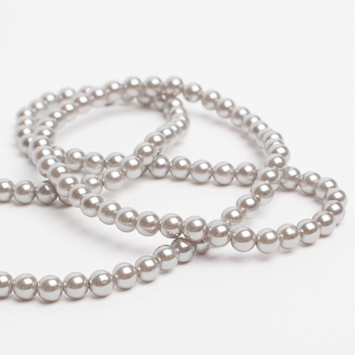 Richland 8mm Resin Pearl Silver Five 1yd Strands