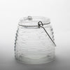 "Eastland 4.6"" Hanging Horizontal Ribbed Glass Jar with Handle Set of 6"
