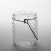 "Eastland 5.1"" Hanging Dotted Glass Jar with Handle Set of 12"