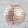 "Richland Round Chinese Paper Lanterns 8"" Silver Set of 10"