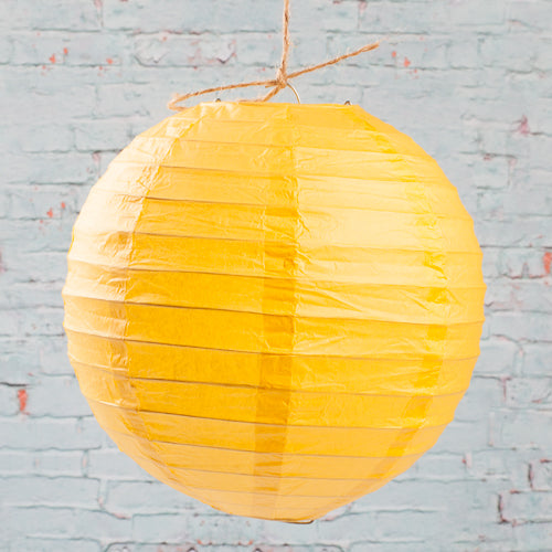 "Richland Round Chinese Paper Lanterns 8"" Yellow Set of 10"