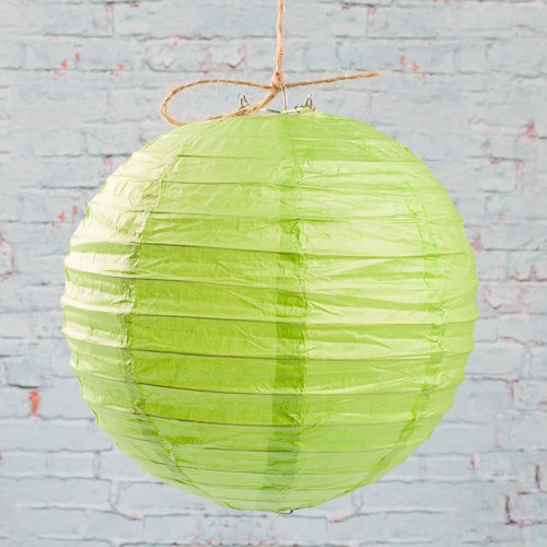 "Richland Round Chinese Paper Lanterns 8"" Green"