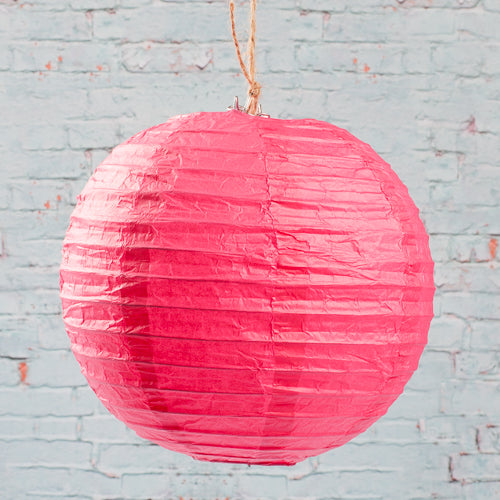"Richland Round Chinese Paper Lanterns 8"" Fuchsia Set of 10"