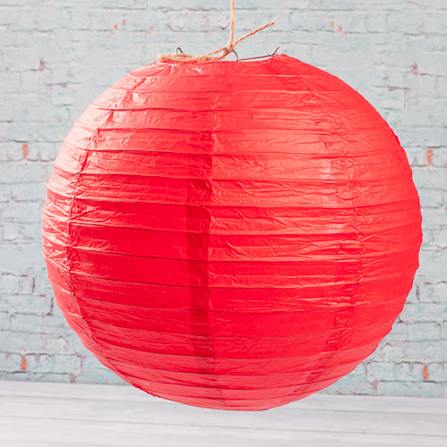 "Richland Round Chinese Paper Lanterns 12"" Red"