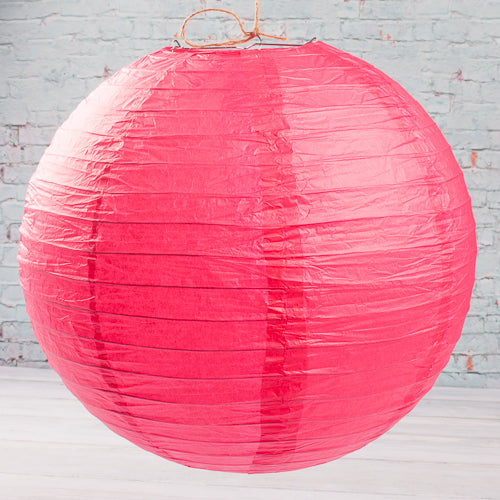 "Richland Round Chinese Paper Lanterns 16"" Fuchsia Set of 10"