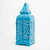 Richland Blue Moroccan Temple Metal Lantern