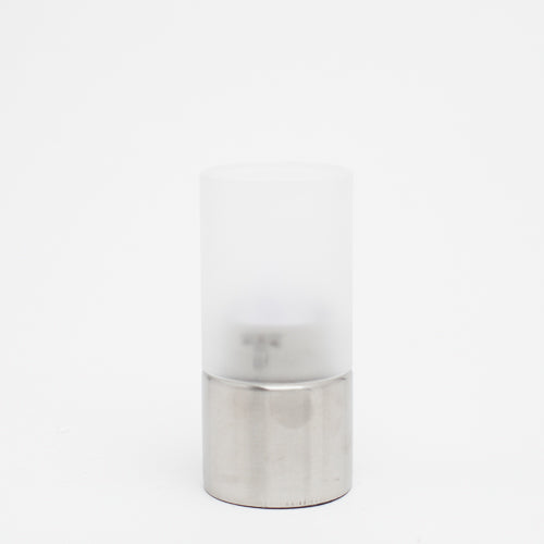 Richland Stainless Steel Frosted Decorative Cylinder - Medium