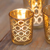 Richland Gold Hexagonal Glass Holder – Small Set of 12
