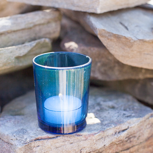 eastland votive holder blue set of 12