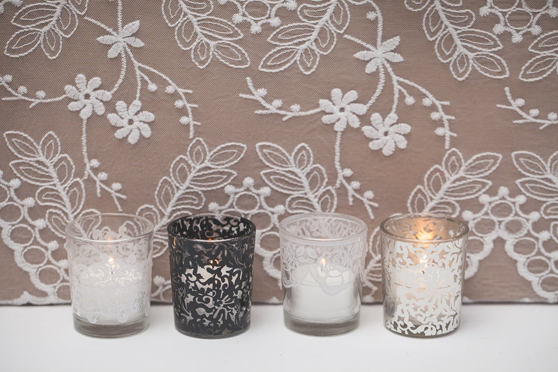 richland black lace votive holder set of 72