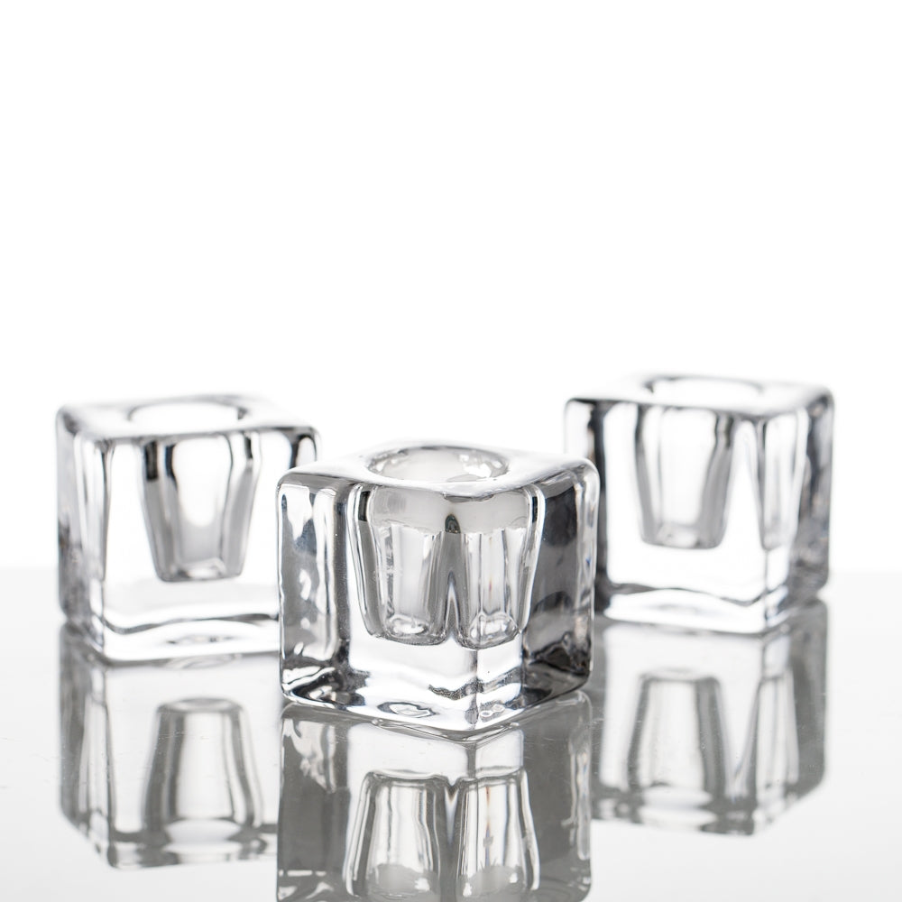 richland square glass taper candle holder set of 72