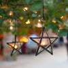 Richland Hanging Star Metal Tealight Lantern with Clear Embossed Glass