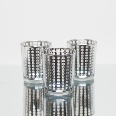 Richland Silver Dotted Glass Holder – Small Set of 72