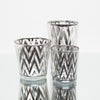 richland silver chevron glass holder medium set of 48