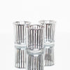 richland silver stripe glass holder small set of 12