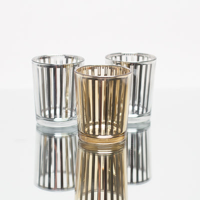 Richland Silver Stripe Glass Holder - Small Set of 72