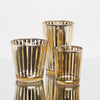 Richland Gold Stripe Glass Holder - Small Set of 12