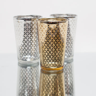 richland gold lattice glass holder large set of 6