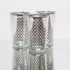 richland silver lattice glass holder large set of 6