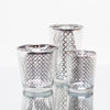 Richland Silver Lattice Glass Holder - Large Set of 6