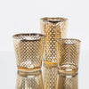 richland gold lattice glass holder medium set of 6