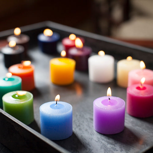 Set of 12 Assorted 10 Hour Unscented Richland Votive Candles