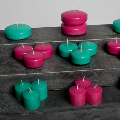 richland votive candles unscented hot pink 10 hour set of 12