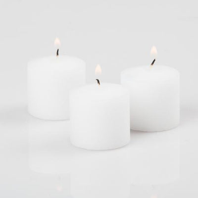 Richland Votive Candles Unscented White 10 Hour Set of 12