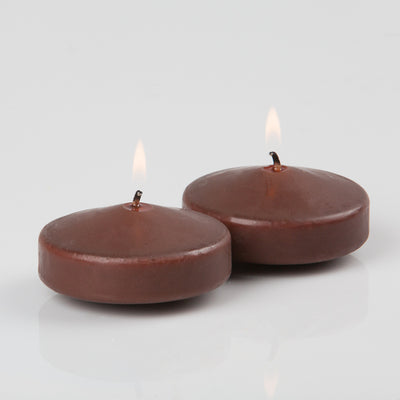 "Richland Floating Candles 3"" Brown Set of 24"