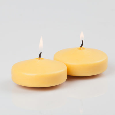 "Richland Floating Candles 3"" Yellow Set of 24"