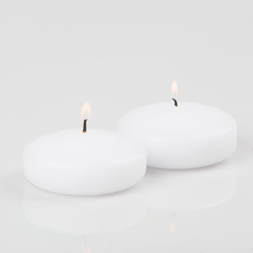 "Richland Floating Candles 3"" White Set of 24"
