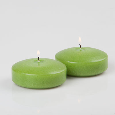 "Richland Floating Candles 3"" Green Set of 24"