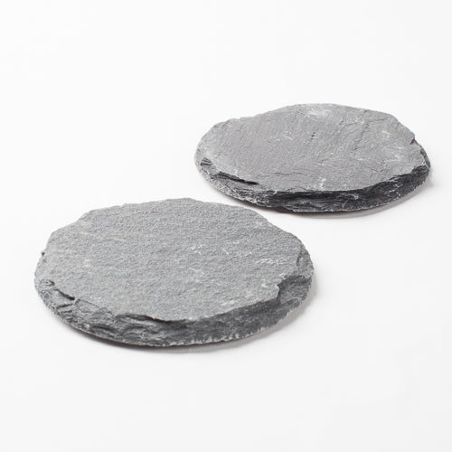 "Richland Round Natural Slate Coaster 4"" Set of 12"